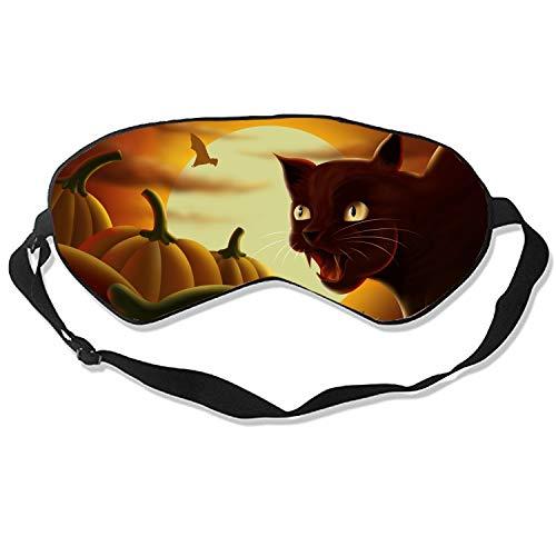 Good Night Sleep Mask - Angry Halloween Cat Eye Cover, Best Gift for Women & Men, Ultimate Sleep for Travel & Night Sleep -