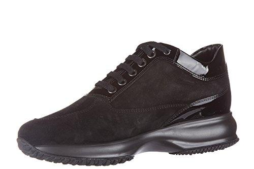 Hogan chaussures baskets sneakers femme en daim interactive lavorata h laminata