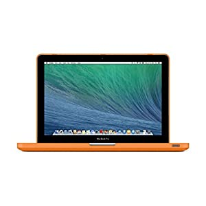 "UESWILL Smooth Soft-Touch Matte Frosted Hard Shell Case Cover for MacBook Pro 13"" with CD-ROM (Non-Retina)(Model:A1278)+ Microfibre Cleaning Cloth, Orange"