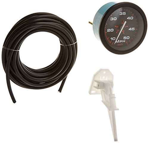 (Sierra International 57898P Amega Domed Pitot Type Scratch Resistant Speedometer Kit, 3