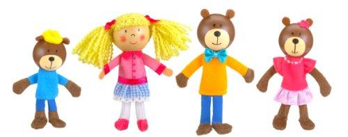 (Fiesta Crafts Goldilocks Finger Puppet Set)
