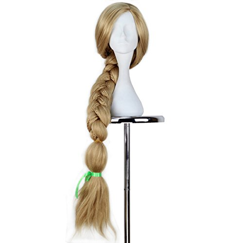 Miss U Hair Girl Long Blonde Weaving Braid Hair Halloween Cosplay Costume Wig Adult Kids]()