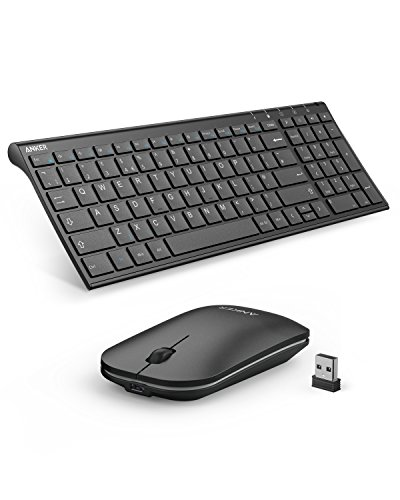 Anker 2.4GHz Wireless Keyboard and Mouse Combo for Windows Devices,...