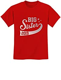 Tstars - Big Sister EST 2019 Sibling Gift Idea Youth Kids T-Shirt
