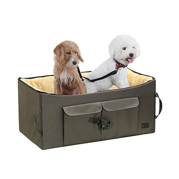 414LRqDMTfS Petsfit Haustier - Autositz mit Sicherheitsgurt - Sicherheit und Komfort für Reisen - Maschinenwaschbare…