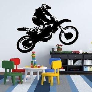 Iconic Stickers   Motorbike Scrambler Dirt Bike Car Wall Sticker Design  Graphic Vinyl Mural Boy V1 Part 69