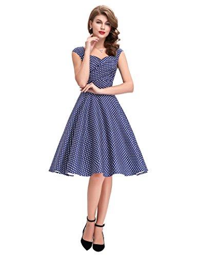BP105 Poque Dresses Belle Sweetheart Floral Vintage Colored Multi 5 50s Style Neck CHSw0dqx