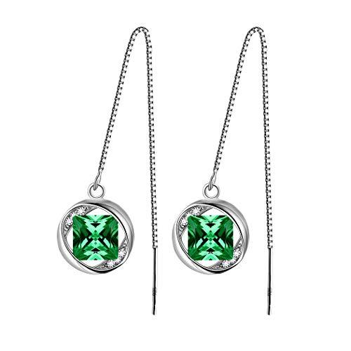Aurora Tears 925 Sterling Silver May Birthstone Earrings Women Drop Dangle Earring Crystal May. Birth Stone Jewelry Girls Birthday Gift DE0029G ()