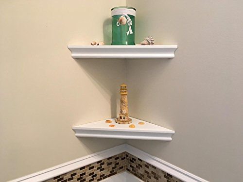 SHELVING SOLUTION Corner Wall Shelf (White)