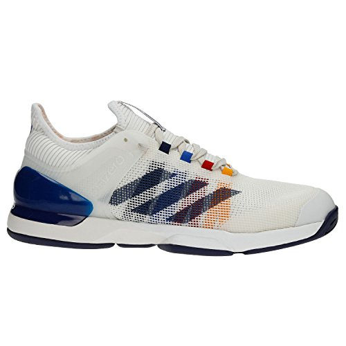 adidas Men's Adizero Ubersonic 2 Pharrell Williams chalk White/Dark Blue/Scarlet CG3086 (Size: 8)
