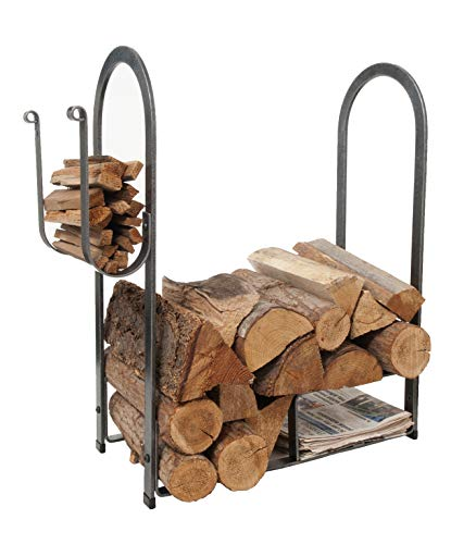 - Enclume Large Fire Center Log Rack, Hammered Steel