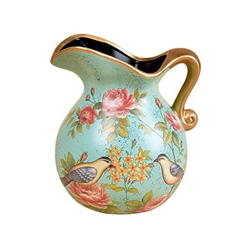 Creative Hand-Painted Ceramic Vase Fashion Handmade Art Vase Living Room Hotel Dining Table Tabletop Flower Pot Decoration,Flower Arrangement Bottle
