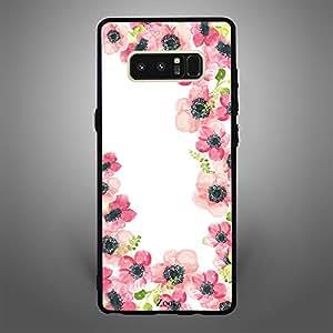 Samsung Galaxy Note 8 Pink Flowers Pattern