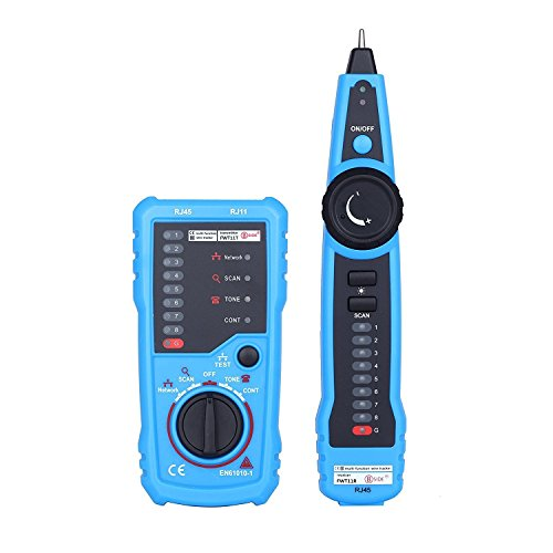 Wire Tracker RJ11 RJ45 Line Finder Multifunction Cable Tester for Ethernet Network Telephone Line Test Continuity Checking, with Clip Adapter Cable, RJ11 Adapter Cable, RJ45 Adapter Cable, ()