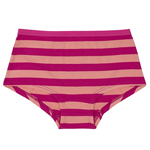 Annika Girls Boyshort Panties, Underwear Set, Tagless, Plush Waistband, No Ride Up, 5-Pack