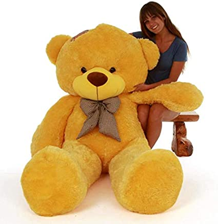 Lovebug Cute Bootsy Yellow 90 cm 3 feet Huggable and Loveable for Someone Special Teddy Bear - 90 cm(Yellw)
