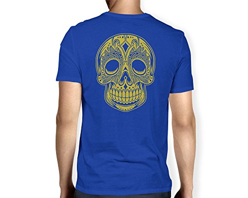 Mens Big Golden Skull T shirt
