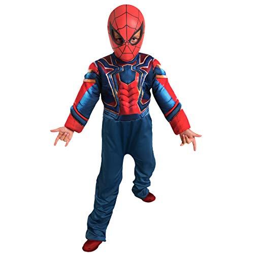 Fantasy Ruz Disfraz Talla 6 Spideman Hombre Araña con Mascara Marvel Azul/Rojo