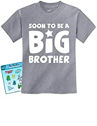 Soon To Be A BIG BROTHER Sibling Baby Boy/Girl Announcement T-shirt