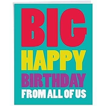 Big Happy Birthday From Us Card