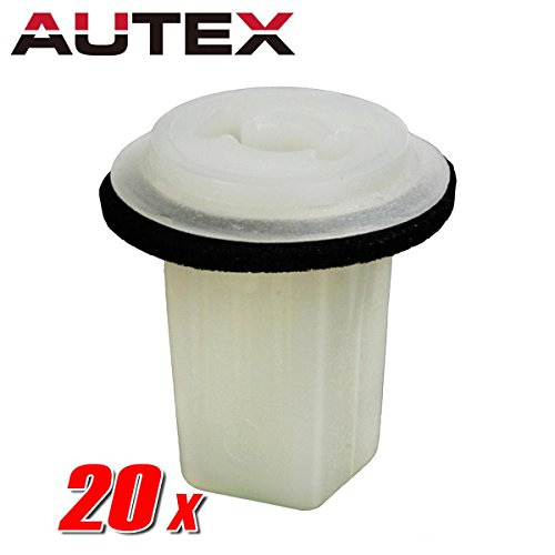 AUTEX 20pcs Fender Liner Fastener Rivet Push Clips Retainer Nut for Honda Accord Civic CR-V CRX Del Sol Odyssey Prelude S2000 Acura CL Integra Legend TL Vigor Acura Cl Vigor Legend
