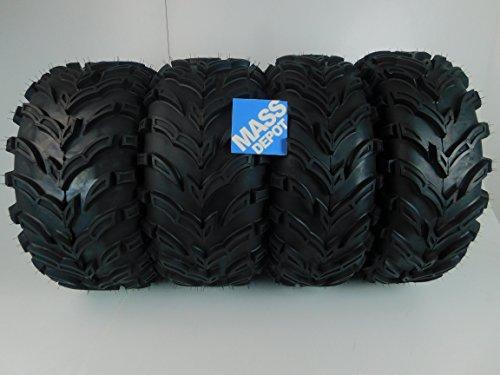 26 Design Set (MassFx MS ATV/UTV Tires 26 x 9-12 Front & 26 x11-12 Rear, Set of 4 26x9x12)