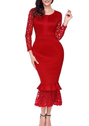 Autumn Ladies Korean Fashion Hollow out Lace Chiffon Tops - 4