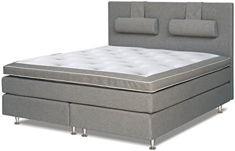 Cama con somier cama 210 x 200 cm gris: Amazon.es ...
