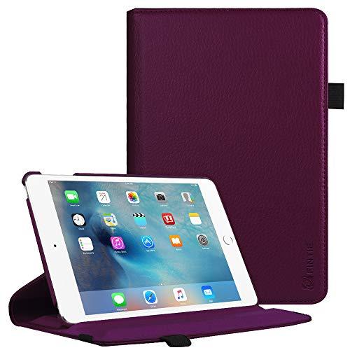 Fintie iPad Mini 4 Case - 360 Degree Rotating Stand Case with Smart Cover Auto Sleep/Wake Feature for Apple iPad Mini 4 (2015 Release), Purple