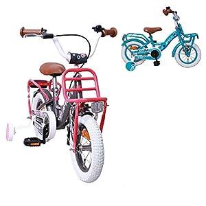 Amigo Bloom - Vélo Enfant pour Les Filles - 12 Pouces - avec Frein à Main, Frein à rétropédalage, Porte-Bagages Avant et… 2
