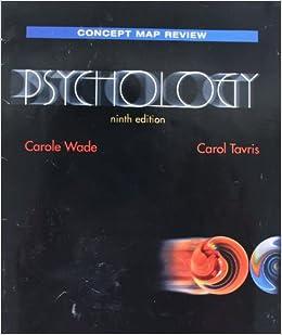Concept Map Book.Psychology Concept Map Booklet Carole Tavris Carol Wade