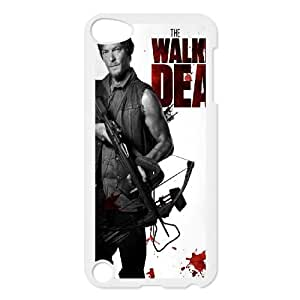 DIY The Walking Dead Phone Case, DIY Hard Back Shell Case for ipod touch 5 with The Walking Dead (Pattern-7)