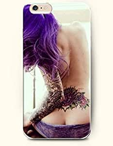 OOFIT Apple iPhone 6 Case 4.7 Inches - Tatto Girl Sitting Naked