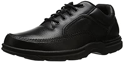 Rockport Men's Eureka Walking Shoe, Black, 6.5 2E US