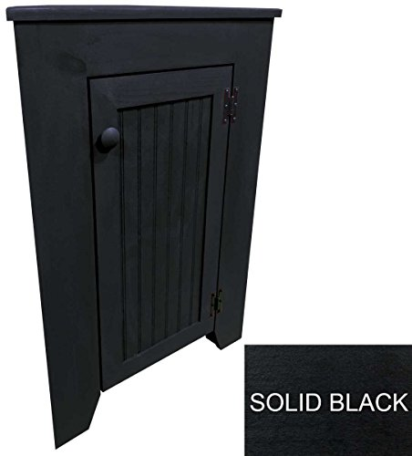 Sawdust City Corner Cabinet (Solid Black) Many Colors Options