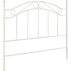 Amazon Com White Metal Headboard Queen Full Size Kitchen