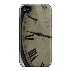 Premium Tpu Classic Clock Cover Skin For Iphone 4/4s