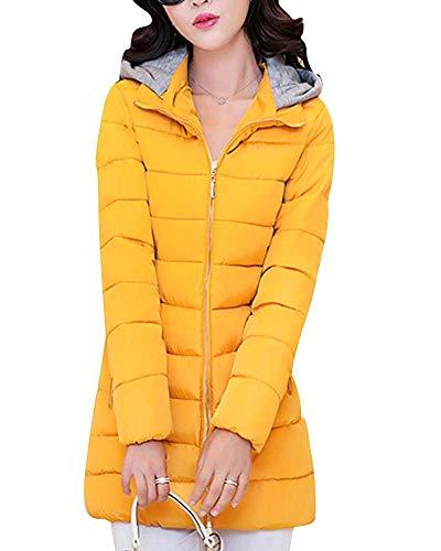 Matelassée Red Women Légère Fermeture À Jacket Glissière Manteaux Xl Et Décontractée Veste Matelassés Pour color Plus Taille Yellow Femme Size Home zrtrWT