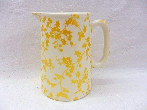 Golden holly chintz half pint jug made by Heron Cross Pottery