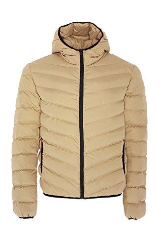 GrantPlain Brave Beige Soul Jacket Mens Hooded Padded Stone 7wnH5Rqw6