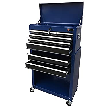 Excel TB220X-AB-Blue 8- Drawer Chest and Roller Combination