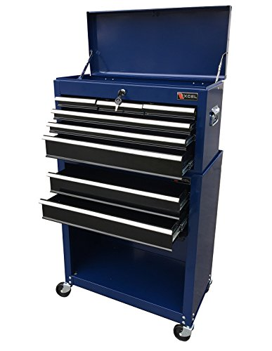 - Excel TB220X-AB-Blue 8- Drawer Chest and Roller Combination