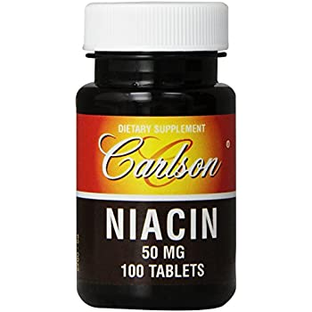 Carlson Labs Niacin, 50mg, 100 Tablets