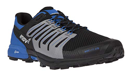 Inov-8 Mens Roclite G 275 - Lightweight Trail Running OCR Shoes - Graphene Grip - for Obstacle, Spartan Races and Mud Running - Black/Blue M11.5/ W13