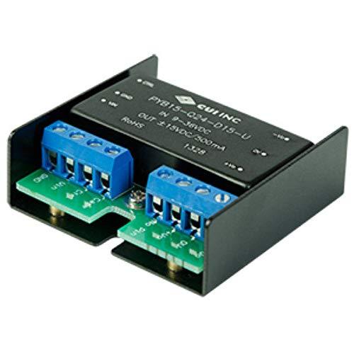 15 W, 4:1 Input Range, Single/Dual Regulated Output, Chassis Mount, 1500 Vdc Isolation, Dc-Dc Converter - 24 Vdc, 0.625 A, 15 W, 9~36 Vdc Input Range - PYB15-Q24-S24-H-U