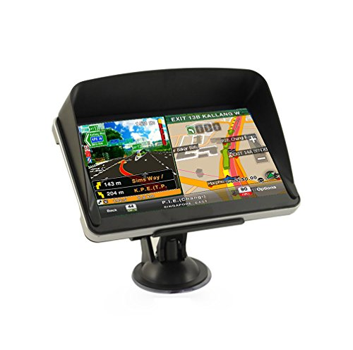 EASYOWN G530 5inch Car GPS Windows CE 6.0 8GB HD Screen Navigation System with Sun Shade Visor