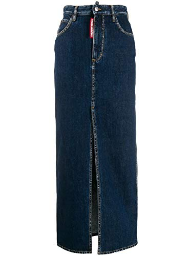 DSQUARED2 Women's S75ma0653s30309470 Blue Cotton Skirt
