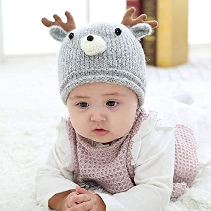 Conjunto de Gorros y Bufanda de Invierno para beb/és y ni/ños Gorro de Punto y pa/ñuelo de Renos para ni/ñas APICCRED