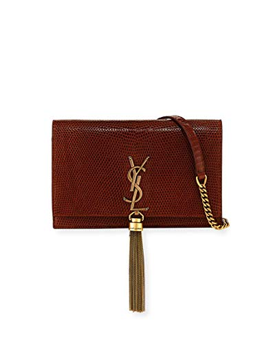 Image Unavailable. Image not available for. Color  Saint Laurent Kate  Monogram YSL Small Lizard Wallet on Chain ... fecf8ae7cd7f3