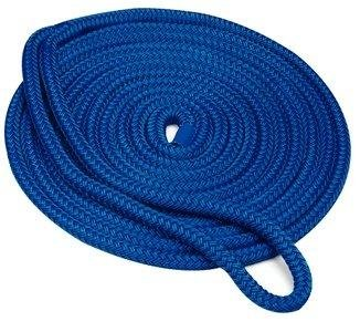 Seachoice Dock Line N Blue Dbl Braided Nylon 1/2 inch x 20ft 39861